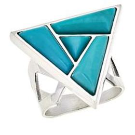 Jay King Sterling Silver Campitos Turquoise Ring