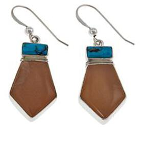 Jay King Sunstone and Turquoise Sterling Silver Dr