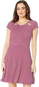 MICHAEL Michael Kors Bias Tile Dot Fit and Flare D