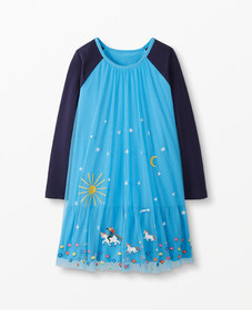 Hanna Andersson Unicorn Dress In Soft Tulle in Map