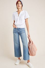 Anthropologie Pilcro Chambray Peasant Blouse