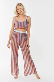 Out From Under Striped Sheer Wide Leg Pant
