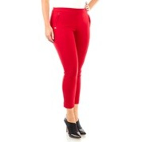 Crepe Career Pants with Bar Accent