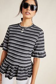 Anthropologie Taylor Peplum Top