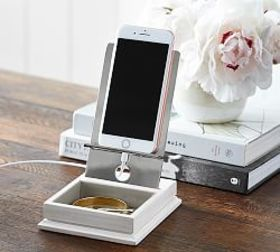 Pottery Barn Mini Charger & Catchall with USB Port