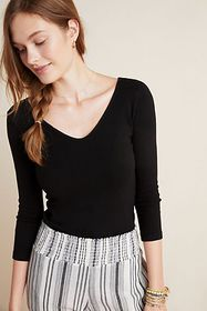 Anthropologie Stateside Ruched Tee