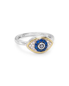 Bloomingdale's - Diamond Evil Eye Ring in Sterling
