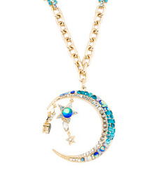 BETSEY JOHNSON Moon And Star Pendant Necklace