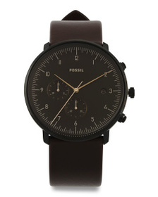 FOSSIL Men's Chase Timer Leather Strap Watch