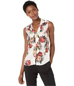 Tahari by ASL Sleeveless Low Bow Blouse