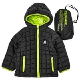 REEBOK Baby Boys Fleece Lined Packable Coat with H
