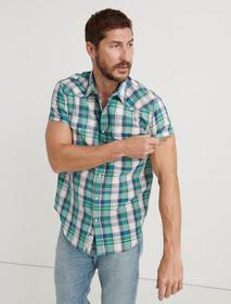 Lucky Brand Madras Plaid Shirt