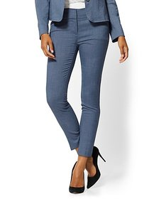 Blue Structured Ankle Pant - 7th Avenue - New York