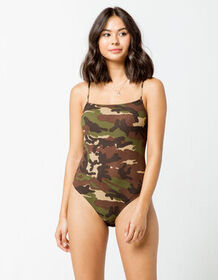 FULL TILT Ribbed Camo Bodysuit_