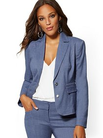 Blue Two-Button Jacket - 7th Avenue - New York & C