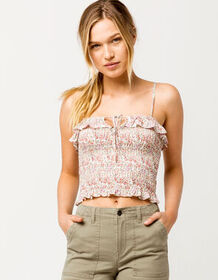 IVY & MAIN Smocked Floral Womens Cami_
