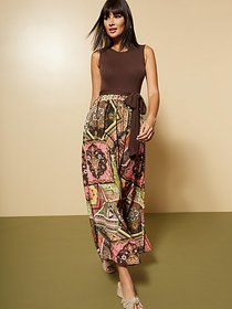Brown Twofer Maxi Dress - New York & Company