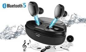 Bluetooth 5.0 Wireless Earbuds Headphones with Cha