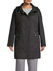 Cole Haan Hooded Packable Jacket BLACK