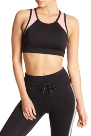 C & C California Mesh Stripe Sports Bra