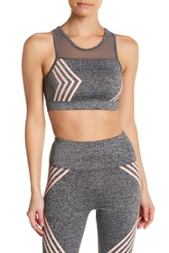 C & C California Stripe Mesh Sports Bra