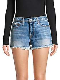 7 For All Mankind Cut-Off Denim Shorts BLUE