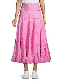 Free People Stuck In The Moment A-Line Skirt PINK
