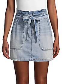 Free People Tie-Waist Denim Mini Skirt INDIGO BLUE