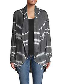 C&C California Tie-Dye Open-Front Cardigan TERRACO