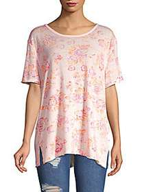 Free People Tourist Tee ROSE