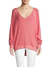 Free People Santa Clara Thermal Top PINK