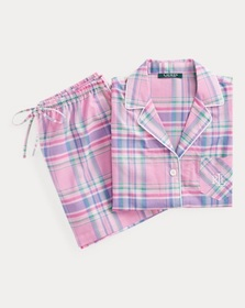 Ralph Lauren Plaid Boxer Short Sleep Set