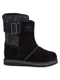 Sorel Rylee Waterproof Faux Fur Suede Boots BLACK