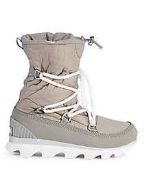 Sorel Kinetic Faux Fur-Lined Outdoor Boots GREY