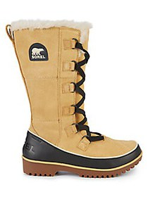 Sorel Tivoli High II Suede, Leather and Faux Fur A