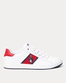 Ralph Lauren Quilton Bear Leather Sneaker