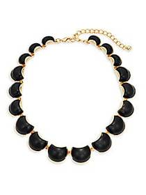 Kenneth Jay Lane Goldtone & Resin Necklace NO COLO