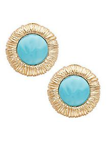 Kenneth Jay Lane Goldtone Clip-On Earrings NO COLO