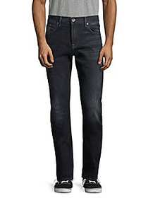 7 For All Mankind Whiskered Slim-Fit Jeans BLACK