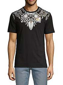 Versace Collection Graphic Cotton Tee BLACK