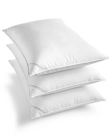 Diamond-Grid Feather & Down Wrap Support Pillow Co