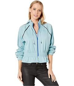Juicy Couture Cinched Waist Interlock Track Jacket