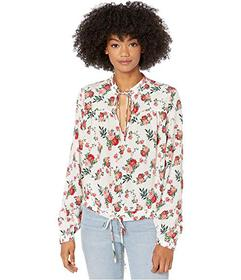 Juicy Couture Faded Floral Silk Top