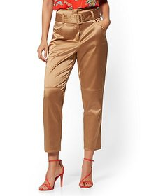 Belted Ankle Pant - Tan - 7th Avenue - New York &