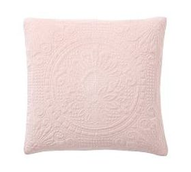 Pottery Barn Velvet Medallion Quilted Shams - Soft