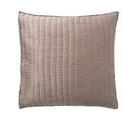 Pottery Barn Cotton Silk Quilted Shams - Brownston