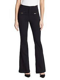 Skinny Girl High-Rise Flared Jeans RINSE BLACK