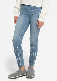 Justice Jeweled Pull On Jean Leggings