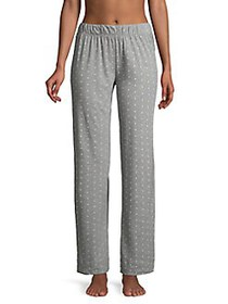 Lord & Taylor Dot-Print Cotton Pajama Pants ALICE