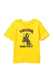 Volcom Wheel With It Short Sleeve T-Shirt (Toddler